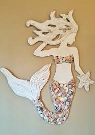 inspiring design wooden mermaid wall hanging make a wood for decor diy inside or porch beachy