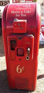 25 Cent Vending Machine Inspiration Old Vintage And Mega Cool Styling Coke Vending Machine From The 48's