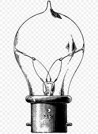 Monochrome Light Bulb Incandescent Light Bulb Drawing Lamp Edison Light Bulb Png