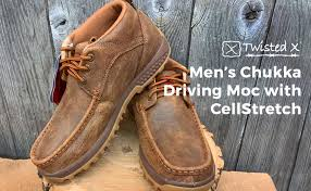 Twisted X Mens Boots Size Chart Twisted X Mens Cellstretch Driving Mocs Casual Lace Up Chukka Boots Bomber