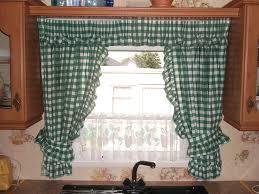 bay window kitchen curtains