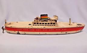 Vintage bobby boat toy
