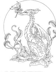 Beautiful Coloring Pages Dragons Fairies Photos Printable Coloring