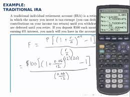 Retirement Formulas Finance Example Savings Annuity With Formula Traditional Ira