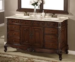 Bathroom: Espresso Double Sink Bathroom Vanities With Rectangle ...