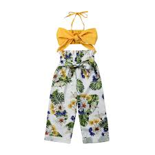<b>2019 Fashion Toddler Baby</b> Girl Clothing Set Summer Bow Crop ...