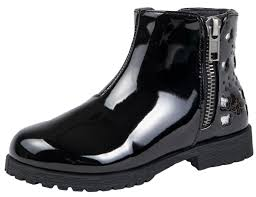 bms buckle my shoe girls faux leather mid