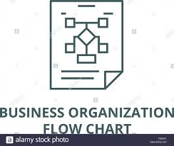 Business Organization Flow Chart Line Icon Vector Business