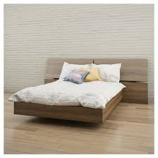 Alibi Full Size Platform Bed Walnut Nexera Tar