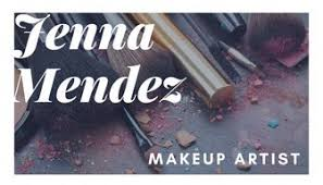bordered photo makeup artist business card