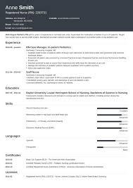 Nursing Resume Template Minimo Guide Examples Of Experience