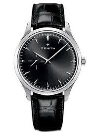 Наручные <b>часы Zenith</b> из нержавеющей стали с черным ...