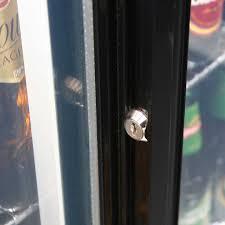 rhino 2 sliding glass door bar fridge model sg2s b lock