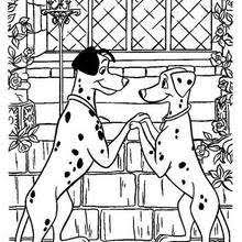 pages 101 dalmatians coloring pongo and perdita in love