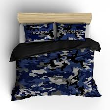 blue camo bedding can personalize
