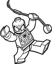 Genuine Lego Spiderman Coloring Pages Valence Lego Spiderman And