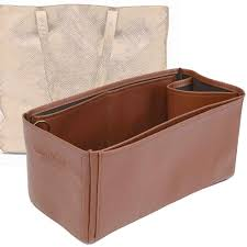 classic leather totes deluxe leather bag organizer in brown color