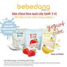 Combo 3 gói sữa chua khô hoa quả sấy lạnh Bebedang - Vị dâu, chuối, sữa chua