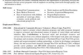 Resume Volunteer Experience Example
