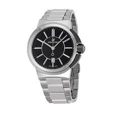 swarovski watches jomashop swarovski piazza grande black dial stainless steel quartz men s watch