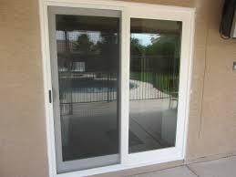 white french rail door with sliding screen door