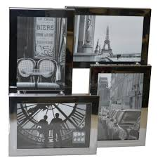 sixtrees brooklyn 4 116 c stainless steel 3d multi aperture photo frame for four