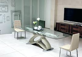 Expandable Glass Dining Room Tables Interior Impressive Inspiration Ideas