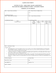 Certificate Of Origin Template Word Complete Blank Certificate