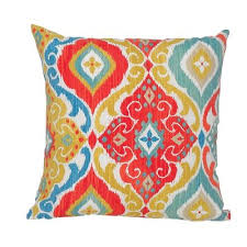 Multi Color Indoor Outdoor Throw Pillow