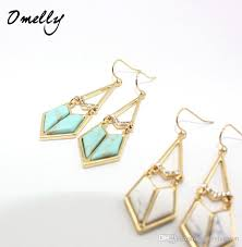 new arrivals kate darcy statement earrings women jewelry gold filled crystal turquoise stone chandelier earrings omelly kendra scott darcy statement