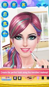 fashion boutique celebrity s salon spa makeup dress up makeover game screenshot