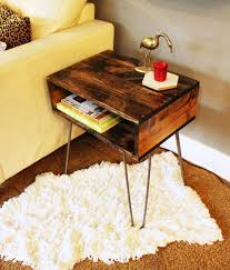 diy hairpin leg side table angle look