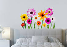 wall art flowers uk