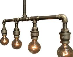 industrial lighting for the home. Lighting - Industrial Steampunk Light Bar Chandelier For The Home E