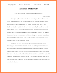 Examples Of Personal Statements Example Of Graduate School Personal Statement