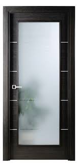 avanti vetro interior door in a black apricot finish with silver strips and frosted glass interior door texture l6 door