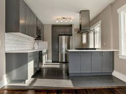 grey kitchen cabinets with white countertops kitchen elegant compact closed kitchen with grey cabinets and gray