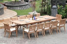 teak dining set 12 seater 13 pc large