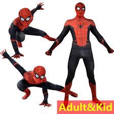 Kids Adult <b>Uniform Spiderman Costume</b> Kostum Dewasa Kanak ...