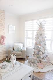 Light Pink And White Christmas Tree Pretty Pastel Christmas Decor White Christmas Trees Pink
