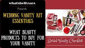 wedding makeup bag kit list indian bridal you