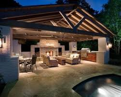Outdoor Kitchen Designs With Pool Custom Design Ideas