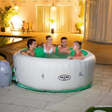 saluspa paris inflatable portable spa hot tub for 4 to 6 people with led light airjet massage system com