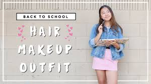 back to hair makeup outfit 2016