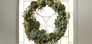 how to make a front doorHow to Make a Living Succulent Wreath  The Home Depot