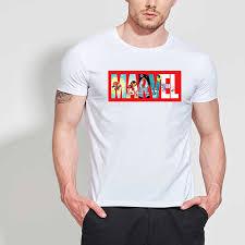 <b>Lus Los</b> Marvel series T shirts Men Short T Shirt 2019 Fashion ...