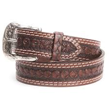 ranger mens hand tooled leather belts brown tap to expand