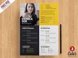 Creative Resume Template Psd Bundle On Behance