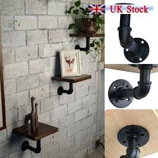 diy metal shelf brackets steampunk industrial steel pipe shelf bracket holder house decor