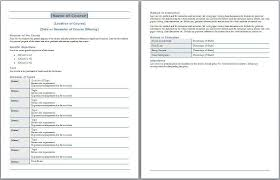 college syllabus template course syllabus template free layout format